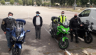 stagiaires pendant stage moto anti pilote de ligne droite
