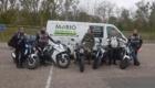 stagiaires pendant stage moto anti pilote de ligne droite belgique